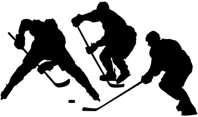 ice hockey players in various poses