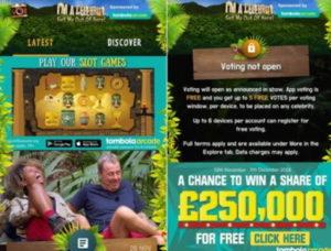 im a celebrity gambling ads