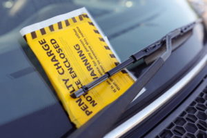 image of a parking fine on a car windscreen
