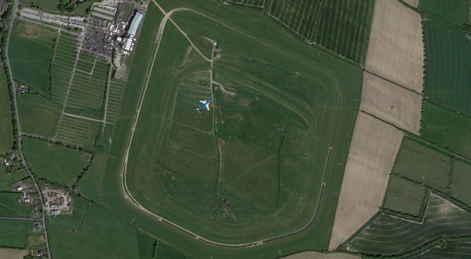 irish grand national fairyhouse racecourse from above