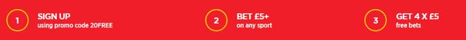 ladbrokes bet 5 get 20 new customer offer steps