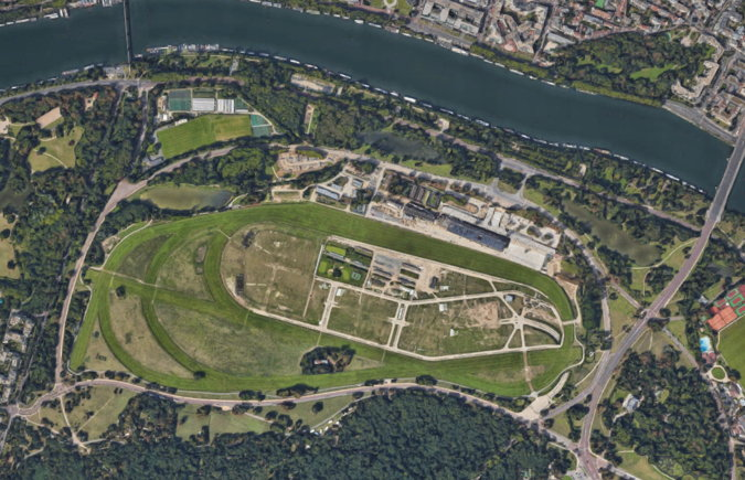 longchamps racecourse from above