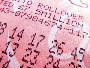 lotto ticket close up