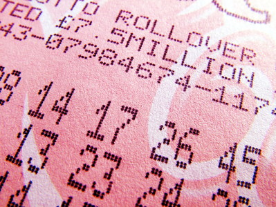 lotto ticket close up