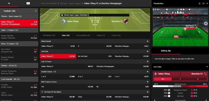 MansionBet Live Betting