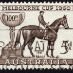 melbourne cup 1860 stamp dark edge