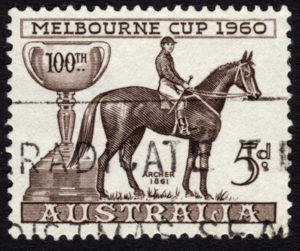 melbourne cup 1860 stamp dark edge