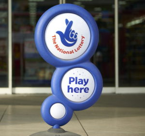 national lottery play here sign