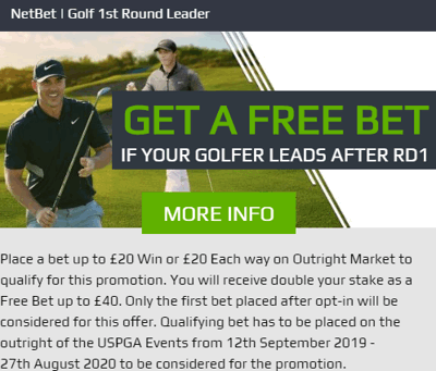 netbet golf first round leader special