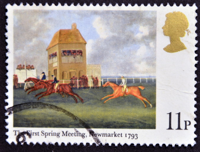 newmarket races old postage stamp
