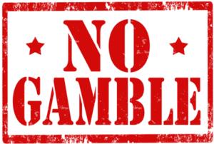 no gambling sign