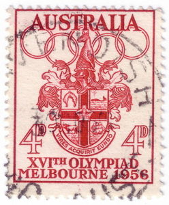 olympic games 1956 melbourne stamp