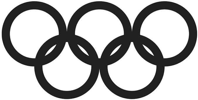 olympic rings black