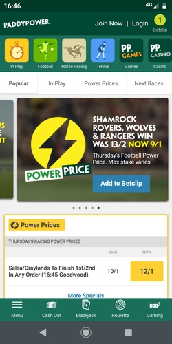 Paddy Power Review - £20 Risk Free First Bet, Cash Money