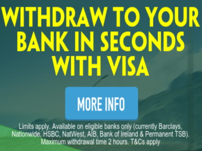 paddy power instant withdrawals to card
