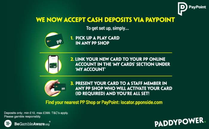 paddy power pay cash via paypoint or shop