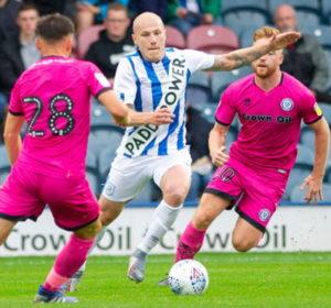 paddy power sash sponsorship on huddersfield kit