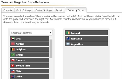 RaceBets Personalisation
