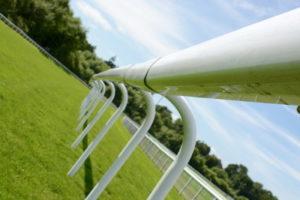 racecourse boundary rail