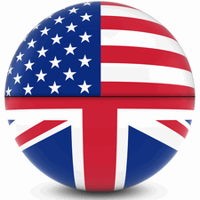 usa and britain golf ball