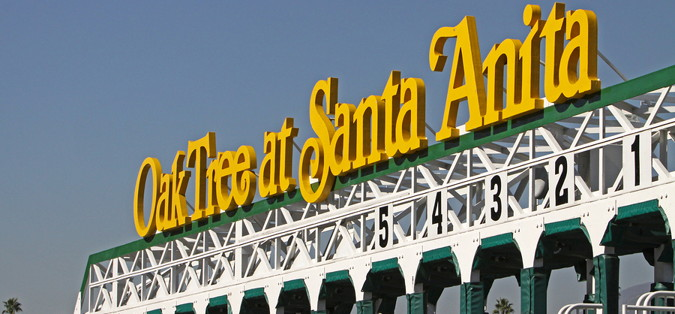 santa anita racing track stalls