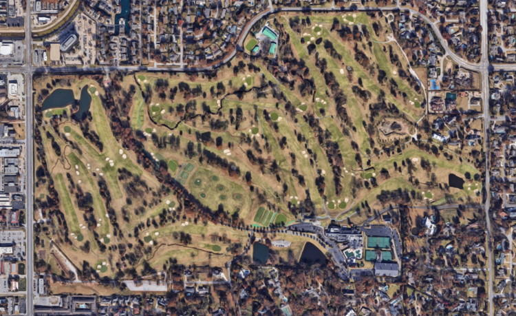 southern hills country club view from above