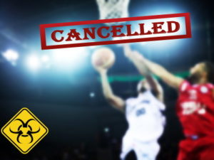 sport cancelled due to coronavirus