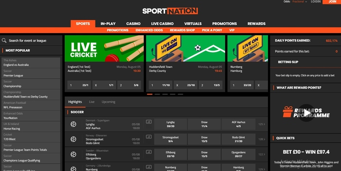 Sporting nation bet