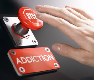 stop gambling addiction big red button