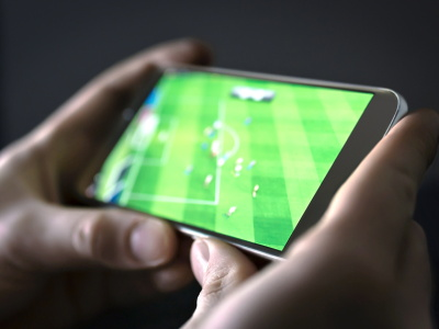 streaming football on a mobile