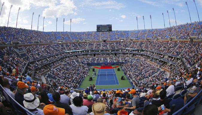 tennis us open arthur ashe stadium inside view