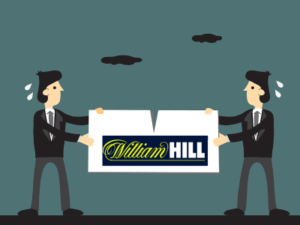 two business men fighting over william hill