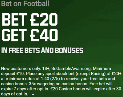 unibet football welcome offer