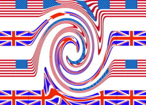 us and uk flags merging