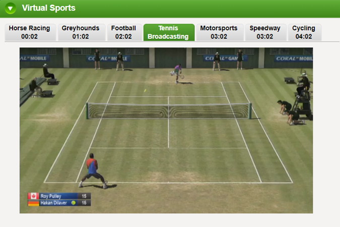 virtual tennis broadcast