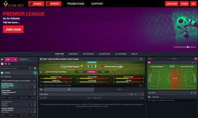 vstar bet screenshot