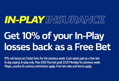 william hill cricket in play insurance