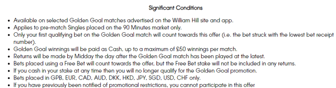 william hill golden goal significant terms
