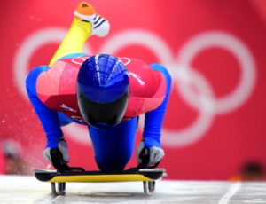 winter olympic skeleton athlete