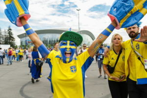 womens football swedish fan