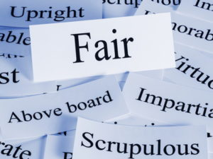 words associated with fairness and impartiality