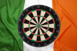 world grand prix darts board ireland flag